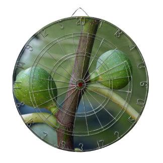 イチジク木の緑のフルーツ ダーツボード