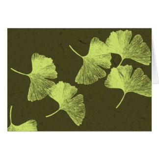 イチョウの葉 カード