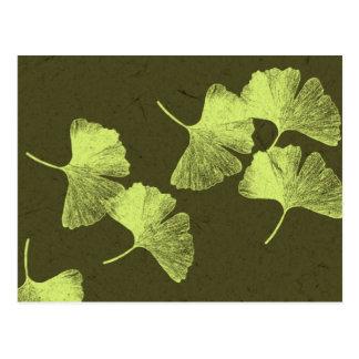 イチョウの葉 ポストカード