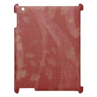 イチョウの(赤い) iPad 2/3/4の箱 iPadケース