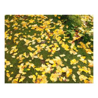 イチョウのbilobaの葉 チラシ