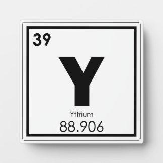 イットリウムの元素の記号化学方式 フォトプラーク