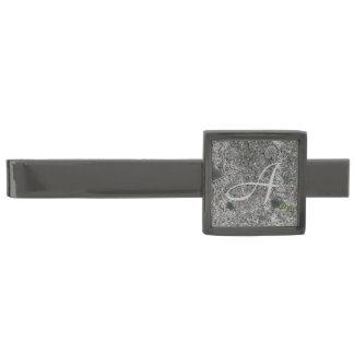 イニシャルとの花こう岩の石の灰色 ガンメタル タイバー