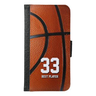 イニシャルのバスケットボール|のスポーツのギフト GALAXY S6 ウォレットケース
