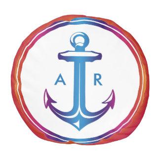 イニシャル|の航海のなギフトを持つスタイリッシュないかり プーフ