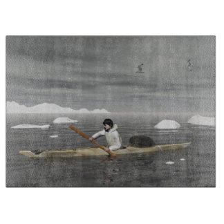 イヌイット族のカヤック カッティングボード