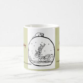 イヌハッカの紙:  イヌハッカのSnowglobeのメリーなマグ コーヒーマグカップ