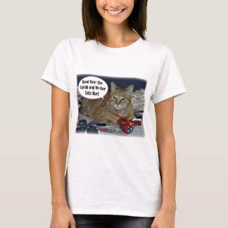 イヌハッカを引き渡せば誰も傷つきません Tシャツ