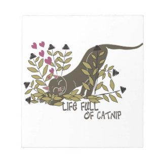 イヌハッカブラウンの十分の生命 ノートパッド