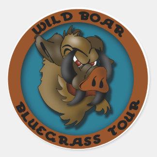 イノシシのBluegrass旅行 ラウンドシール