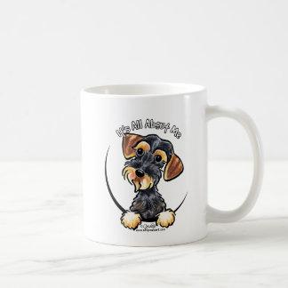 イノシシのWirehairedダックスフントすべてに約私 コーヒーマグカップ