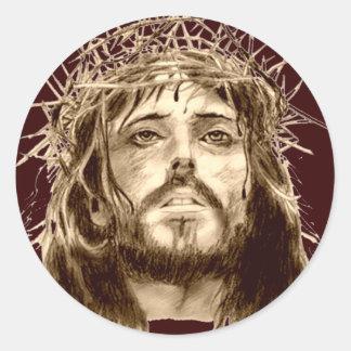 イバラの冠を持つイエス・キリスト ラウンドシール