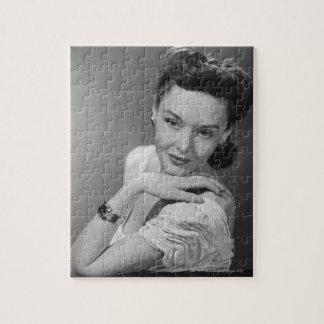 イブニング・ドレスの女性 ジグソーパズル