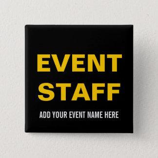 イベントのスタッフボタンPIN %PIPE%の黒い黄色 缶バッジ
