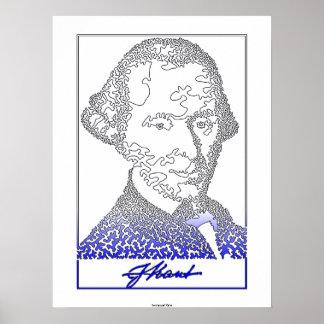 イマヌエル・カント。 ドイツの哲学の創設者。 [002] ポスター