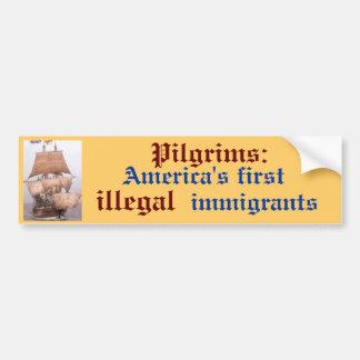 イメージ、アメリカ第1の巡礼者: 、違法、i… バンパーステッカー