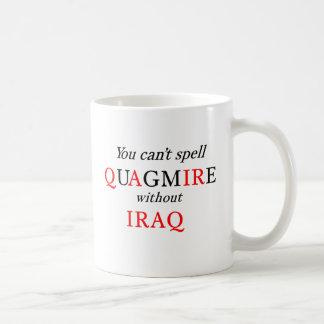 イラクなしでぬかるみを綴ることができません コーヒーマグカップ