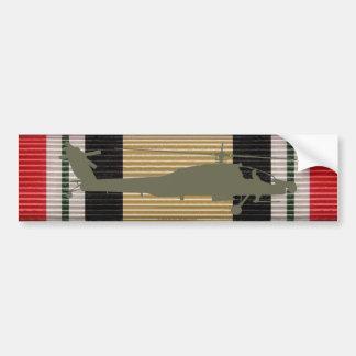 イラクのキャンペーンメダルリボンAH-64アパッシュのステッカー バンパーステッカー