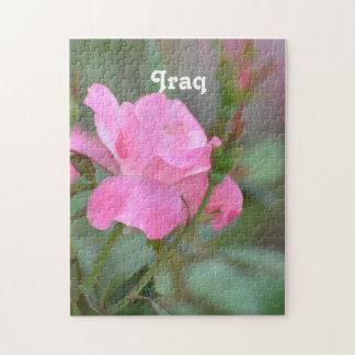 イラクのパステル調ピンクのバラ ジグソーパズル