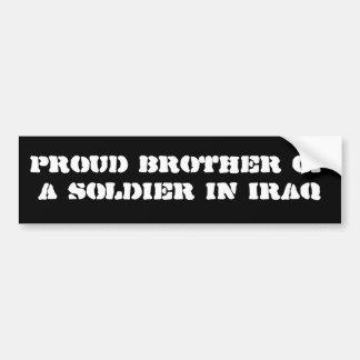 イラクの兵士の誇り高い兄弟 バンパーステッカー