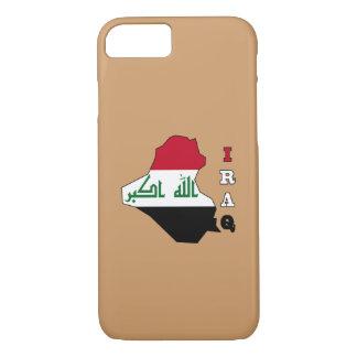 イラクの地図の旗 iPhone 8/7ケース