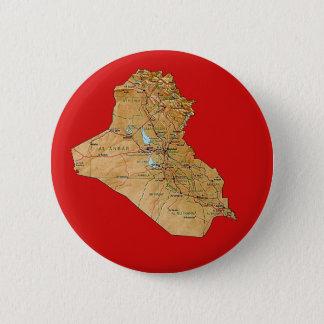 イラクの地図ボタン 5.7CM 丸型バッジ