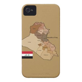 イラクの旗そして地図 Case-Mate iPhone 4 ケース
