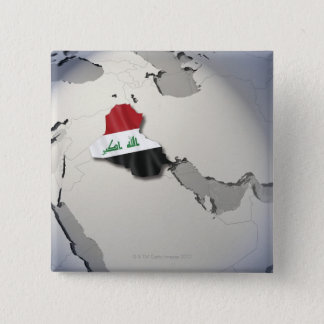イラクの旗 5.1CM 正方形バッジ