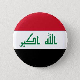 イラクの旗 5.7CM 丸型バッジ