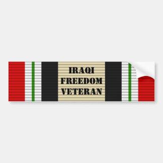 イラクの自由の退役軍人のバンパーステッカー バンパーステッカー