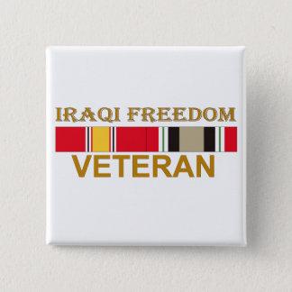 イラクの自由の退役軍人-ボタン 5.1CM 正方形バッジ