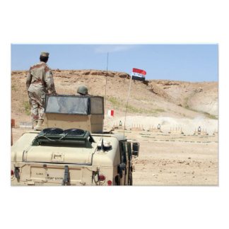 イラクの軍隊の兵士としてインストラクターの腕時計 フォトプリント