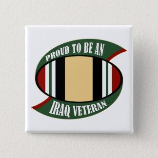 イラクの退役軍人があること誇りを持った 5.1CM 正方形バッジ