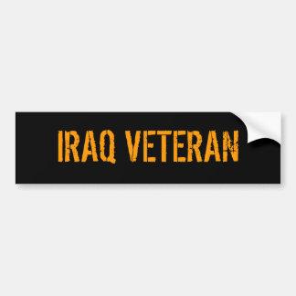 イラクの退役軍人 バンパーステッカー