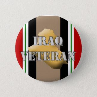 イラクの退役軍人 5.7CM 丸型バッジ