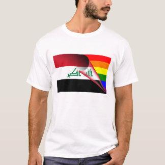 イラクゲイプライドの虹の旗 Tシャツ