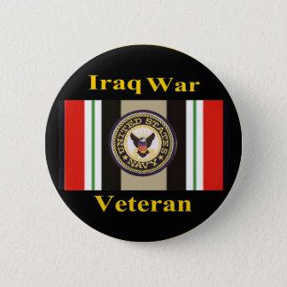 """イラク戦争の退役軍人""""海軍"""" Pin 5.7cm 丸型バッジ"""
