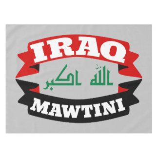 イラク私の故国の旗の旗 テーブルクロス
