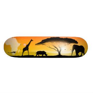 イラストレーションのアフリカ人の景色 スケートボードデッキ