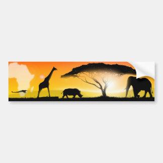 イラストレーションのアフリカ人の景色 バンパーステッカー