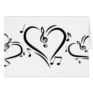 イラストレーションのクレフ、音符記号愛音楽 カード