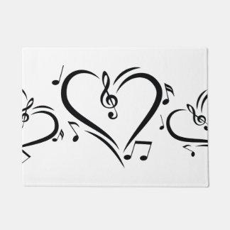 イラストレーションのクレフ、音符記号愛音楽 ドアマット