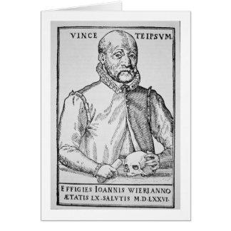 イラストレーションのジョンWierの(1516-88年の)コピーからの「 カード