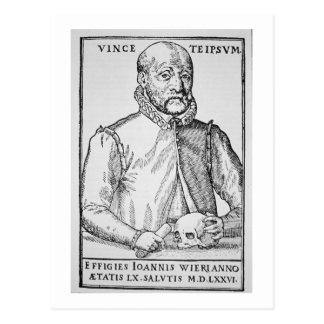 イラストレーションのジョンWierの(1516-88年の)コピーからの「 ポストカード