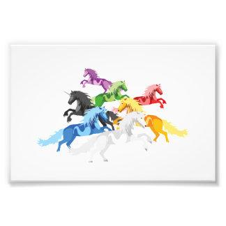 イラストレーションの多彩な野生のユニコーン フォトプリント