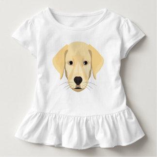 イラストレーションの子犬金Retriver トドラーTシャツ