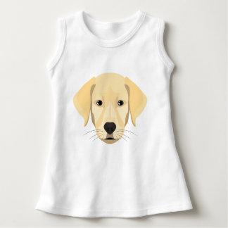 イラストレーションの子犬金Retriver ドレス