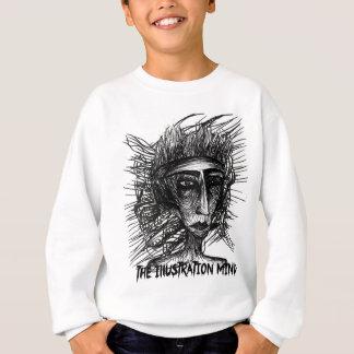 イラストレーションの心の顔のスケッチ スウェットシャツ