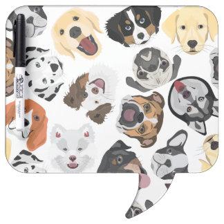 イラストレーションパターン犬 ホワイトボード
