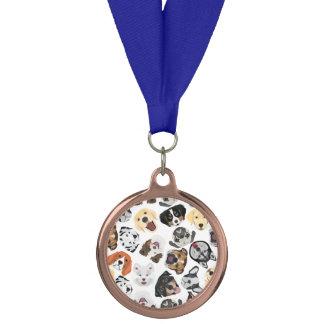 イラストレーションパターン犬 メダル
